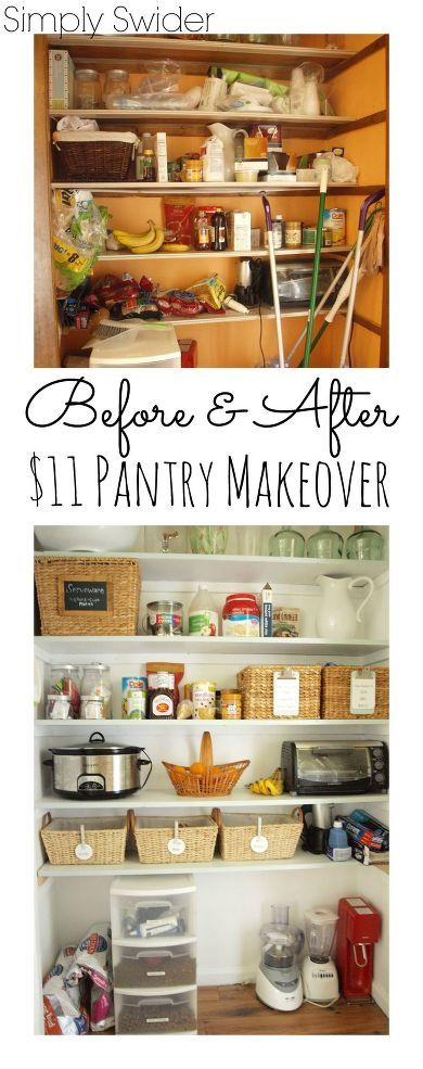 11 pantry makeover pinterest cleanses we and shelves for Design on a dime kitchen ideas