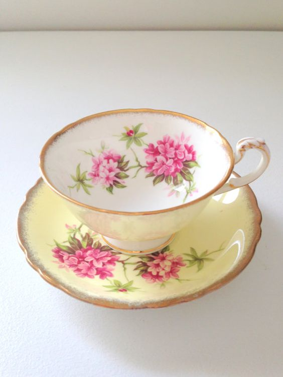 Vintage Paragon Buttercup Yellow Tea Cup and Saucer Tea Party Fine Bone China Wedding, Birthday or Thank You Gift Inspiration Ca. 1960's
