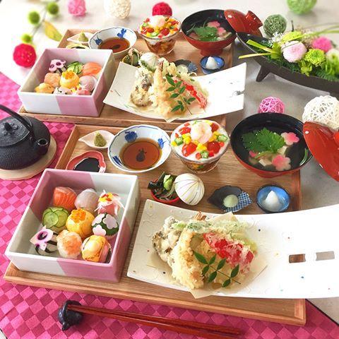 飯テロ・カラフル天ぷら定食