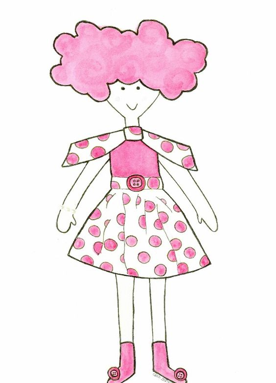 Ilustración de la Carolyna de lunares en rosa de Cristina Santiso ...