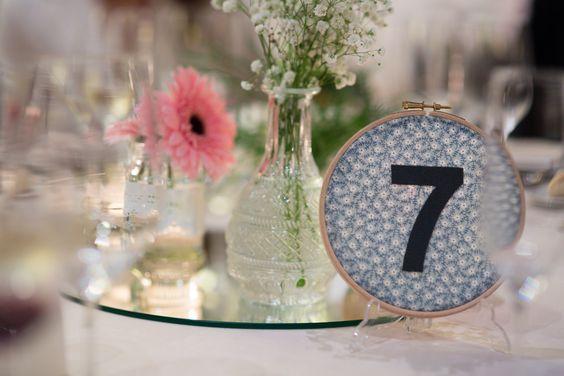 Bastidor boda, centros de mesa