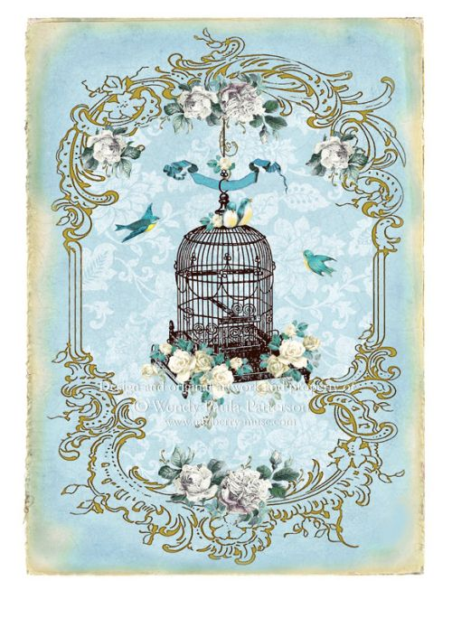 french vintage bird cage cage d 39 oiseau fleur pinterest. Black Bedroom Furniture Sets. Home Design Ideas