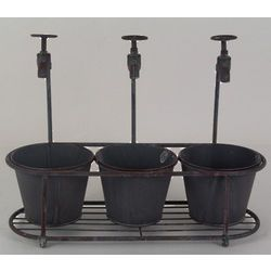Faucet Bucket Planters: Faucet Bucket, Gift Ideas, Metal Buckets, Bucket Planters