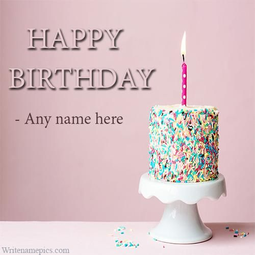 Birthday Card With Name.Happy Birthday Latest Greeting Cards With Name For Free