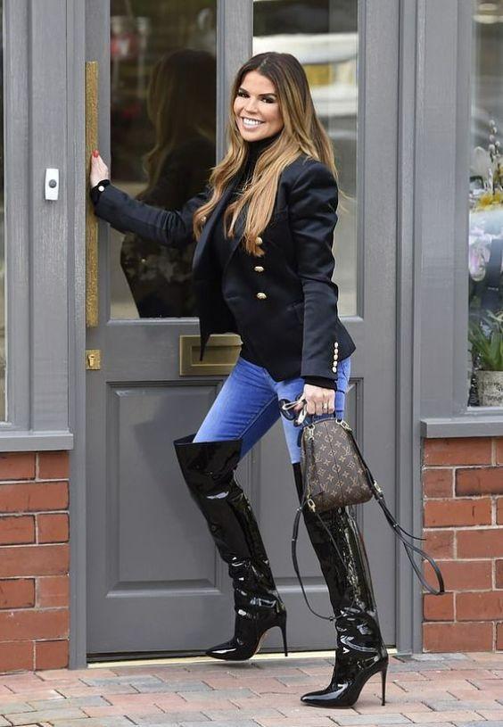 boots, Thigh high boots heels
