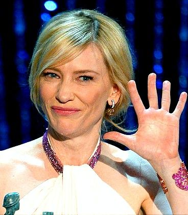 Cate Blanchett accepting her Best Lead Actress Award at the 2014 SAG Awards