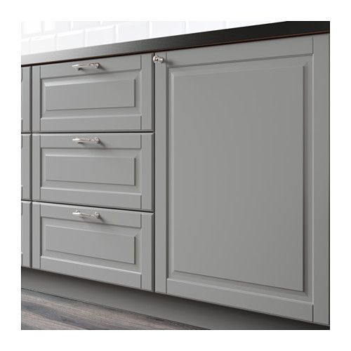 Bodbyn 2 p door corner base cabinet set gray base for Can i paint ikea kitchen cabinets