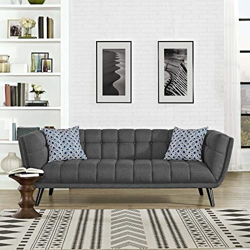 Shop For Modway Bestow Upholstered Fabric Button Tufted Sofa In Gray Online In 2020 Grey Fabric Sofa Fabric Sofa Upholstered Sofa
