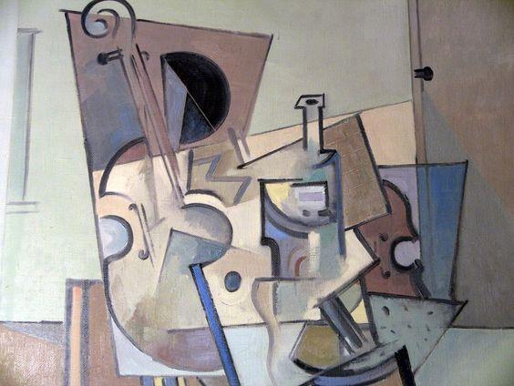 ~! 2003 Vladimir Ilibaev (Russian, 1952-) O/C - Still Life In The Room #Cubism