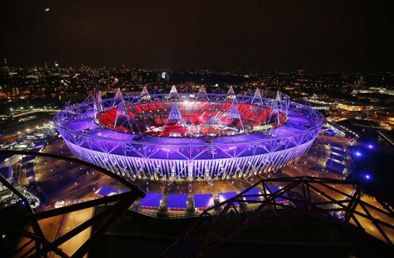The Olympic Stadium is seen during the opening ceremony of the London 2012 Olympic Games July 27, 2012. (Marko Djurica/Reuters) PHOTO LINK