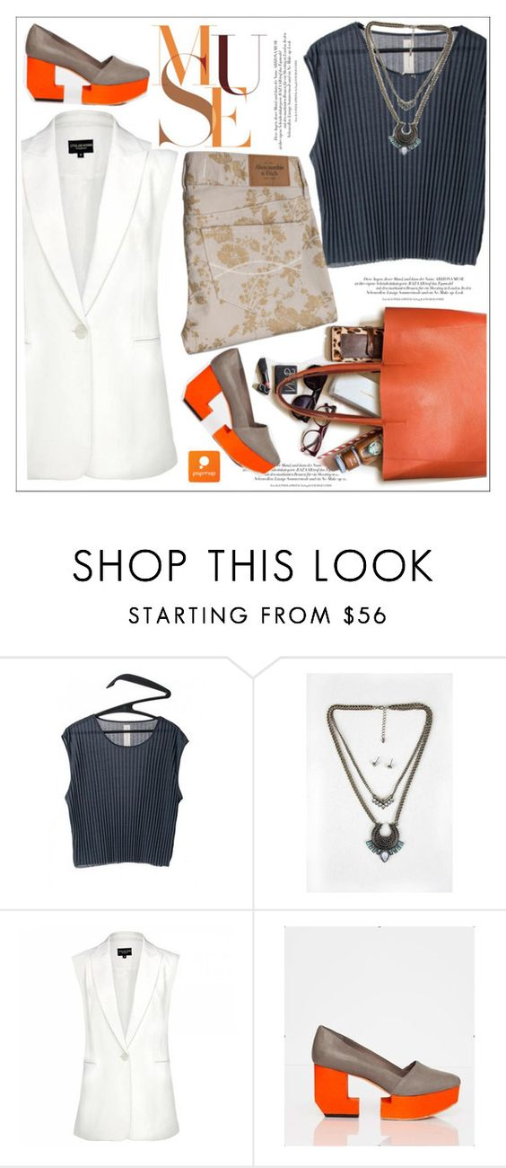 """""""Popmap"""" by teoecar ❤ liked on Polyvore featuring Abercrombie & Fitch and popmap"""