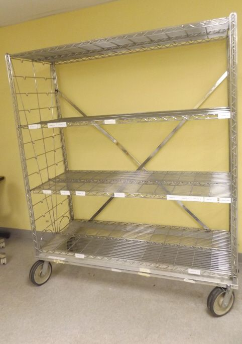 Four Shelf Metal Rack On Wheels Metal Rack Shelves Metal