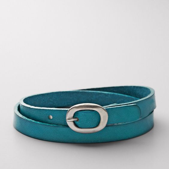 FOSSIL® Jewelry Bracelets:Women Double Wrist Wrap - Teal - Got this today - LOVE!