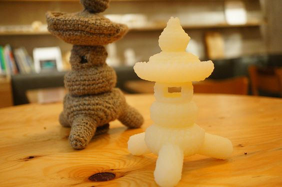 Knitted Toro & 3D printed Toro