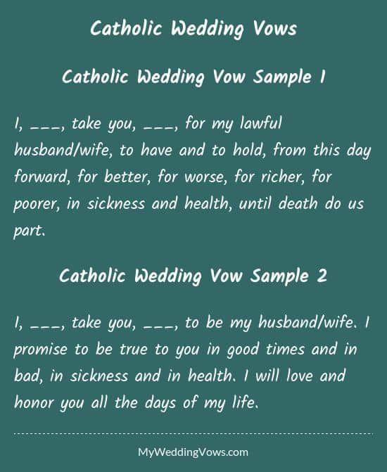 Traditional Wedding Vows Best Photos Catholic Wedding