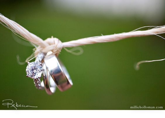 """Tying the knot"" Such a cute idea for a picture!"