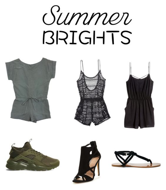 """""""Summer"""" by lailazariel ❤ liked on Polyvore featuring Alice + Olivia, Victoria's Secret, H&M, NIKE, Sole Society and summerbrights"""