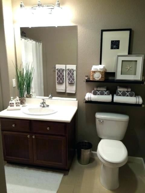 Brown Bathroom Decorating Ideas In 2020 Small Bathroom Decor Guest Bathroom Decor Small Bathroom Ideas On A Budget