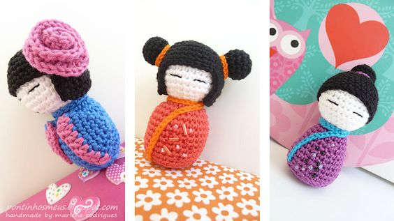 japanese and russian dolls Crochet - amigurumis ...