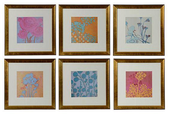 Floral Prints, Set of 6 on OneKingsLane.com