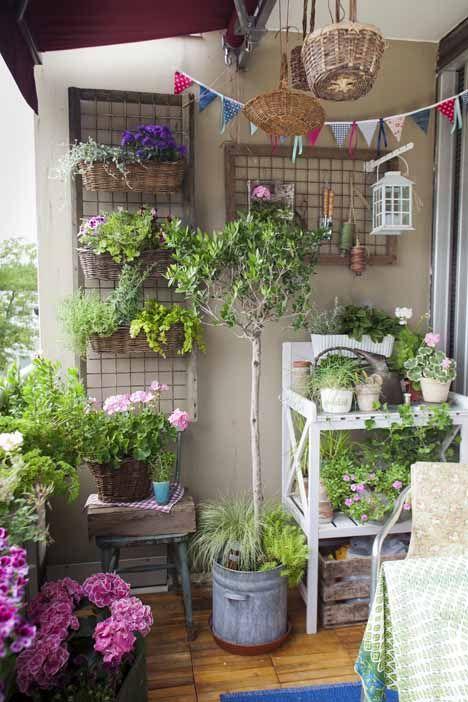 Garden trends: creating a sweet space wherever you live   Beautiful balcony garden
