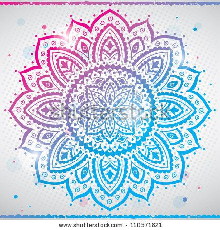 Color Indian Ornament Stock Vector 110571821 Shutterstock