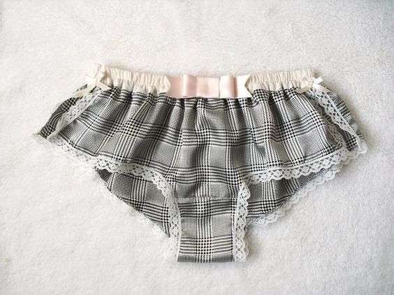 Soft Satin Hound's Tooth Boxer/style KINU(made to order)