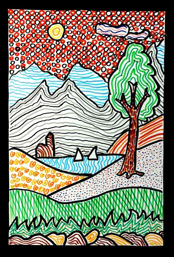 Line Texture Pattern : Texture landscapes and line patterns on pinterest