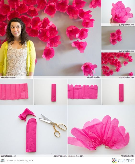 Diy wall art handmade paper flowers tutorial for Handmade paper flowers tutorial