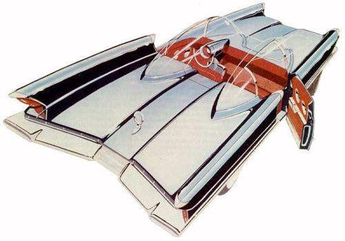 1955 Lincoln Futura show car, George Barris Ghia Batman Batmobile stylish, retro, futuristic, streamlined, concept, bubble