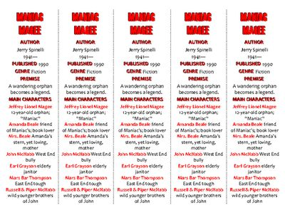 Bookmarks Plus: Maniac Magee edition--A Handy Little Reading Aid! from Word-wise Language Arts Resources/Pegi Rose on TeachersNotebook.com