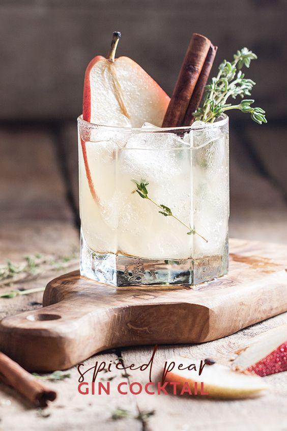 Spiced Pear Gin Cocktail | Craft Gin Club