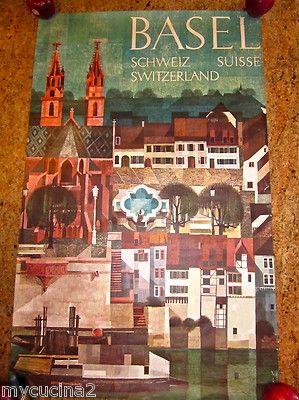 Marcus Schneider BASEL Travel Poster