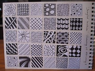 """zentangle """"inches"""""""