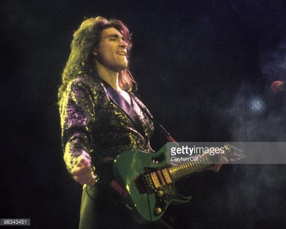 steve vai paintings | Steve Vai performing with David Lee Roth at the Oakland Coliseum in ...