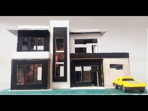How To Make A Architectural Model Of Modern House From Cardboard Youtube Architecture Model Architecture Model Making Modern House