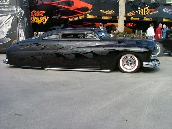 Ghost Flames Over Matte Black Paint Awesome Hot Rod