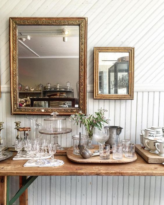 French Farmhouse White Decorating Ideas. From Voque's ultimate guide to antiquing in upstate New York