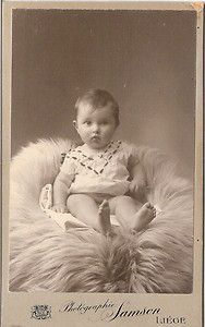 Vintage cabinet card of baby from Liege