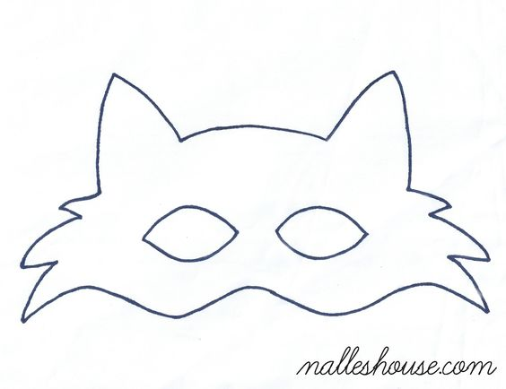 Cat Mask And Ears Template