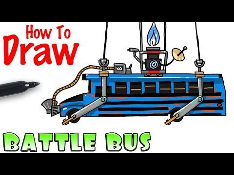 How To Draw The Battle Bus Fortnite Youtube With Images