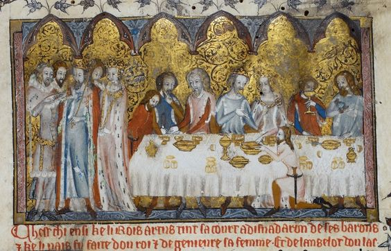 Feasting at King Arthur's Court (British Library MS Royal 20 D iv.)
