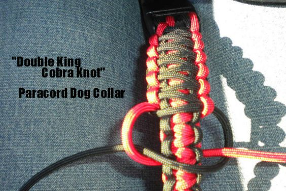 How to make a paracord dog collar double king cobra knot for How to make a paracord bag