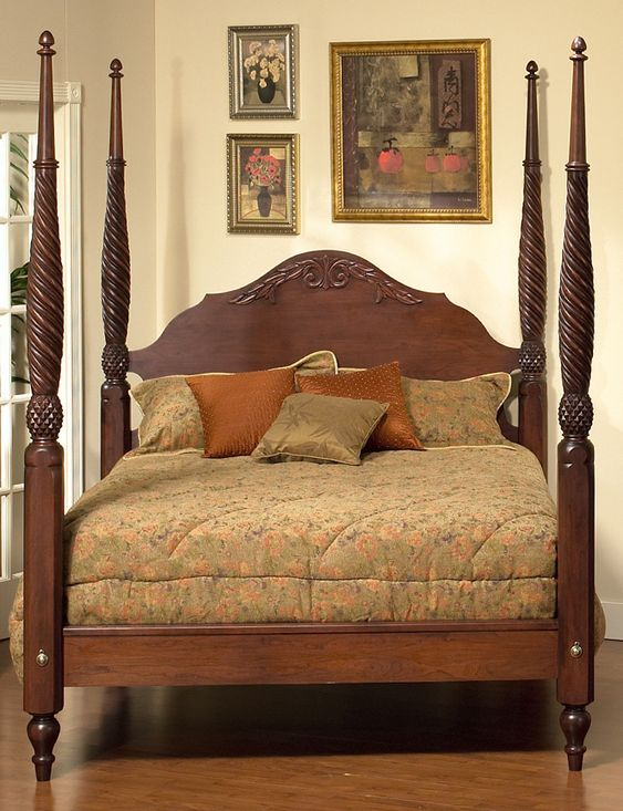 Plantation Bed Plymouth Furniture British Colonial 2