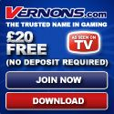 20 Founds Free From Vernons Casino
