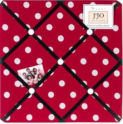 Red And White Ladybug Polka Dot Fabric Memory Memo Photo