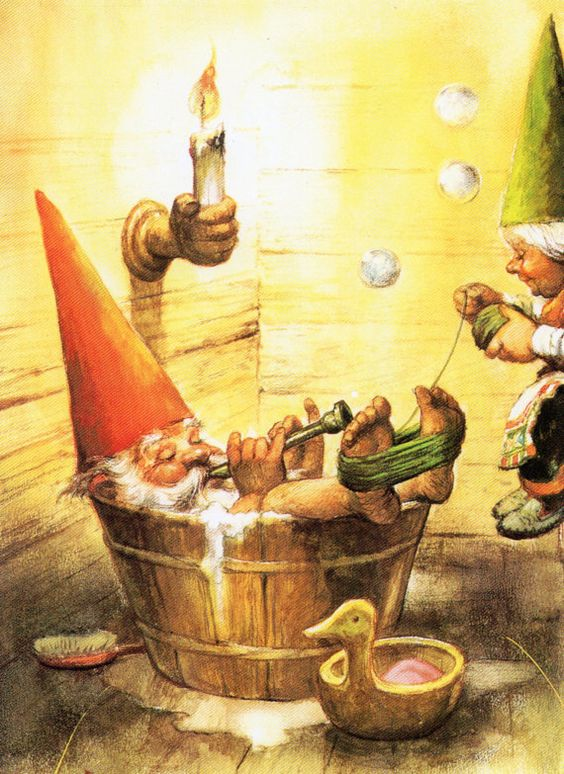 Art Print by Rien Poortvliet Gnome elf  David