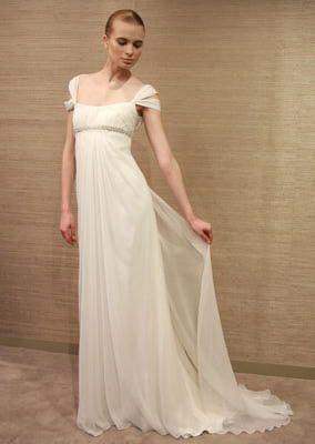 Los vestidos de novia con silueta tipo imperio son románticos, femeninos, y muy favorecedores.