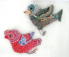 pamela carman Clock Sample (pamela carman) Tags: bird clock whimsy polymerclay canes kato millefiori millefioricanes pamcarman pamelacarmancreations