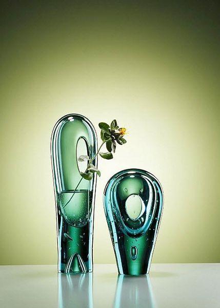 contemporary glass vase DROPS by  Jitka Kamencová Skuhravá LASVIT